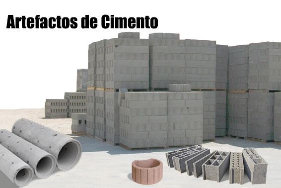 Produtos artefactos de cimento